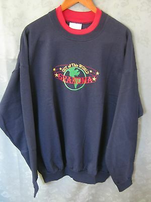 "Vintage 90's M&C Sportswear Sweatshirt Size 2X ""Out of this World Grandma"""