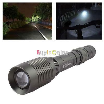 UltraFire CREE XML T6 LED Zoom Flashlight Waterproof Torch 4000Lm 5 Mode YUUS