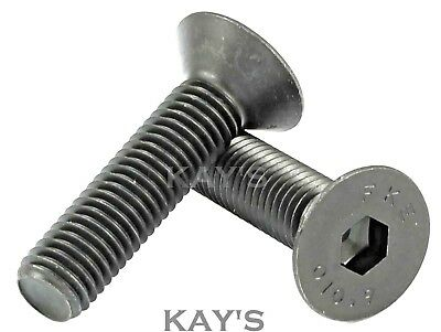 Countersunk Bolts Self Colour Allen Socket Screws High Tensile M3 M4 M5 M6 M8