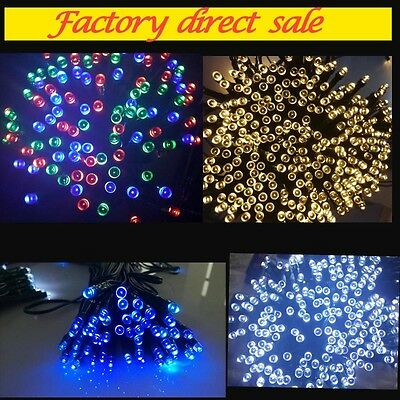 100 LED 12M Solar Powered Fairy String Lights Garden Christmas Outdoor Indoor