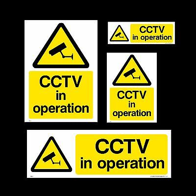 CCTV Sign, Sticker - All Sizes & Materials - Security, Camera, Warning, Smile