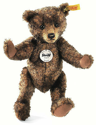 Steiff Classic Brownie Teddy Bear Brown Tipped Mohair Jointed 28cm 026980