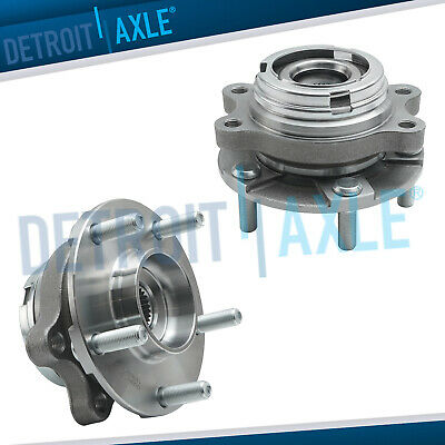 Pair of 2 Front Driver and Passenger Wheel Hub and Bearing Assembly AWD w/ ABS