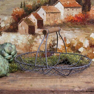 Antique-Style Shabby Style Chic Wire Basket Home Decor