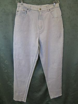 Vintage 80's Stefano Size 18 High Waist Tapered Acid Washed Jeans