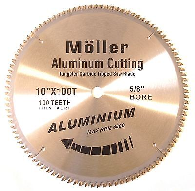 "Lot of (3) 10"" x 100T Aluminum Cutting TCT Saw Blade"