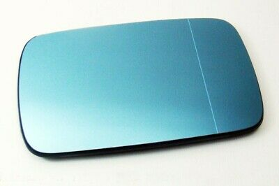 For BMW E39 E46 Right=Left Wing Mirror Glass Blue Heated Aspheric Anti Blind -