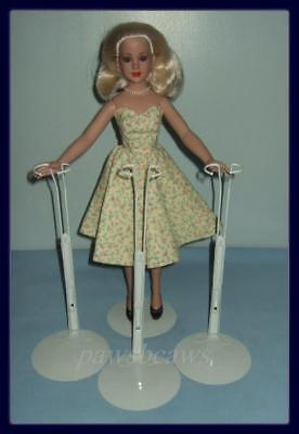 """NEW Fits 11/""""- 18/"""" tall dolls 18/"""" SUPER SIZE BARBIE 1 KAISER #2625 WHITE STAND"""