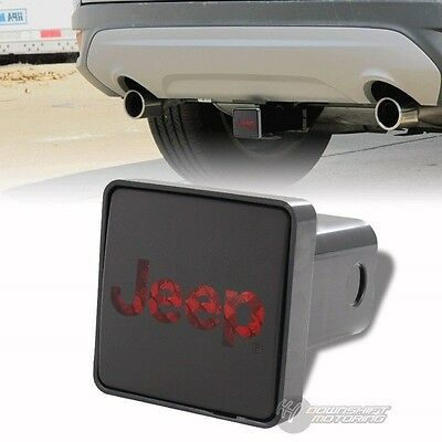 """Bully Hitch Cover 2"""" Rear LED Trailer Towing Receiver with Brake Lights for JEEP"""