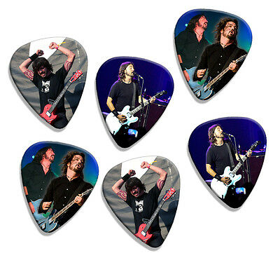 Foo Fighters 6 Loose Live Performance Guitar Picks Plectrums Medium Gauge Set A