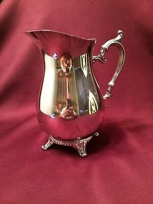 Vintage William Rogers Silver Plate Footed Water Pitcher #817