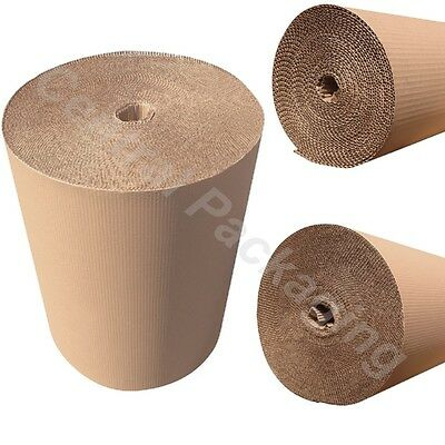 600mm BROWN CORRUGATED CARDBOARD PACKING ROLLS Strong Packaging House Moving