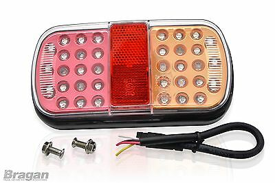 (Pair) LED Rear Trailer Tail Lights Lamps Tractor Truck Trike 4x4 Van 12/24 Volt