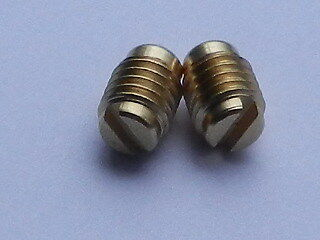 "Lucas BM4 Ammeter 1/4"" BSF Grub Screws - 1 Pair"