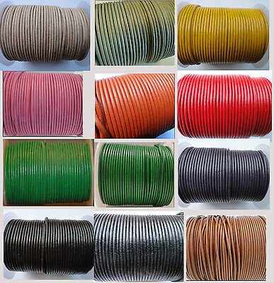Premium Adjustable Leather Round Thong Necklace Cords 1.5,2mm/18 - Lobster Clasp