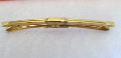 VINTAGE ANTIQUE ANSON GOLD TONE Tie BAR 1/4 X 2 INCH