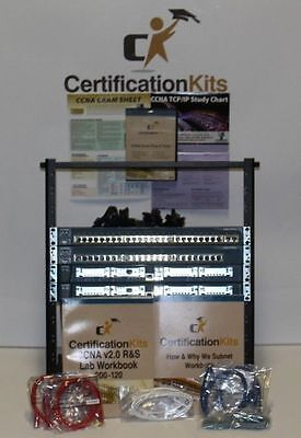 Cisco Dual 1760 96/32 & 2-2950 Switch CCNA 200-120 Lab Kit *Licensed* Rack Stand