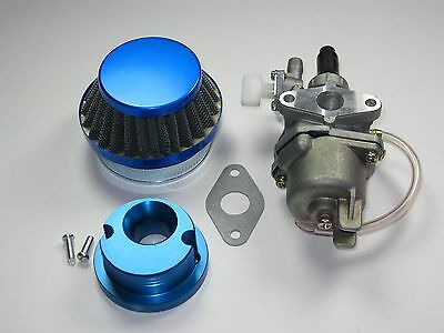 CARBURETOR AND FILTER FOR 2 STROKE 47CC 49CC SCOOTER MOPED MINI ATV POCKET BIKE.