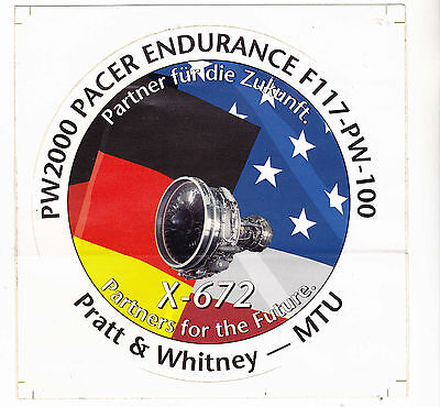 Military Sticker PW2000 Pacer Endurance F117-PW-100 ,oversized
