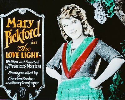 MARY PICKFORD THE LOVE LIGHT RARE ART COLOR PHOTO OR POSTER