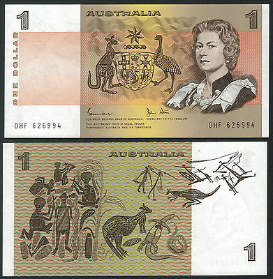 TMM* 1983 Commonwealth of Australia Bank Note 1 Dollar P42d Unc Johnston/Stone