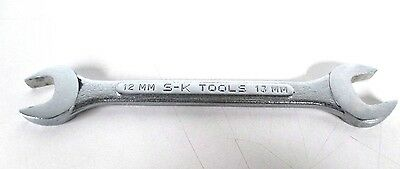 SK Tools 12MM X 13MM Metric Open End Wrench Forged  Alloy 8212 *Made In The USA*