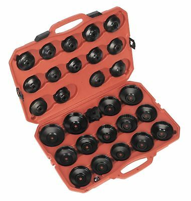 Sealey Tools Large 30 Piece Master Oil Filter Wrench Socket Tool Set + Storage
