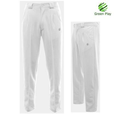 Mens Green Play Sports White Bowls Trousers