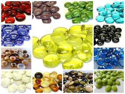 25 x Glass Pebbles / Nuggets / Stones / Round Mosaic Tiles - Choice of Colours