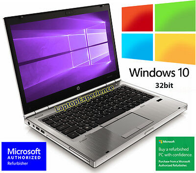HP LAPTOP ELITEBOOK 8460p i5 2.5GHz 250GB DVD WINDOWS 10 PRO WIN 32bit WiFi PC