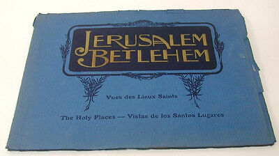 Holy Places Jerusalem Bethlehem in English & French WWII Pub. in Vichy France