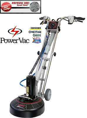 ROTOVAC 360i QUAD JET ROTARY CARPET WAND HARD SURFACE TILE AND GROUT CLEANER