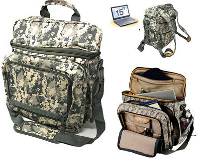 Laptop Computer Backpack Rucksack Bag Camouflage Army Military Luggage School