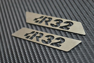 VOLKSWAGEN GOLF R32 MK5 MK6 Brushed Stainless Seat Inserts (Pair)