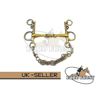 Mouth Pelham Double Jointed Lozenge Copper Mix Horse Bit