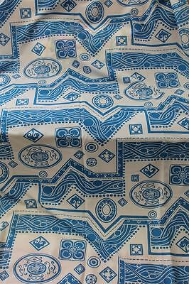 70er Jahre Stoff  Space Pop Design hellblau weiß 70s vintage fabric 60er blue