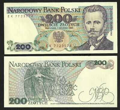 200 Zlotych - Banknote From Poland  - Mint Unc Condition - Polish Zloty