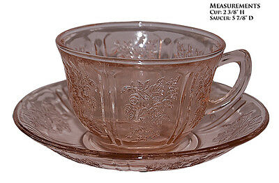 Federal Glass Company Sharon Pink Cup and Saucer