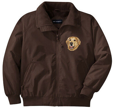 Golden Retriever Embroidered Jacket - Left Chest - Sizes XS thru XL