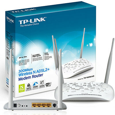 TP-LINK TD-W8961N NUOVO MODEM ADSL2+ ROUTER WIRELESS 300MBPS 4 LAN WiFi ITALIA