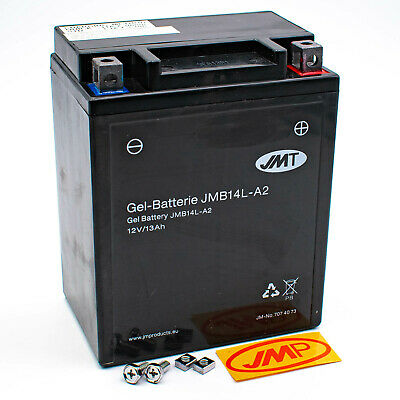 JMT Gel Batterie YB14L-A2 12V Gel Honda CB 750 F F2 K Four G RC04 RC01