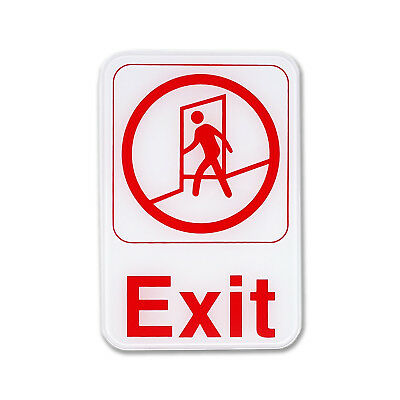 "Exit Sign - Business Exit Policy Sign 6"" x 9"""