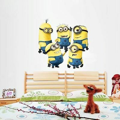 Despicable Me Minions Wall Sticker Decal 5 Different Pieces Great Gift