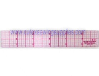 "Westcott C-Thru 6"" Clear Plastic Graph Beveled Ruler #B-50"