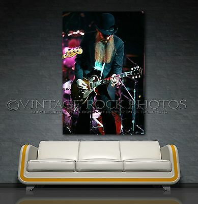 Billy Gibbons  ZZ TOP 20x30 inch Poster Size Photo Live 70's Pro Print 16