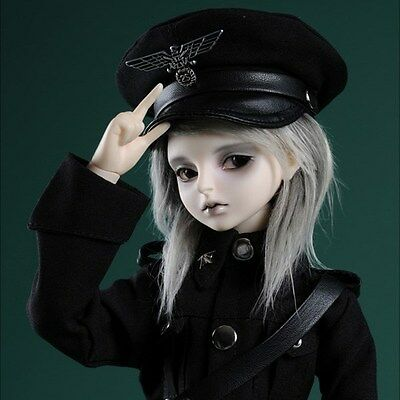 Dollmore 1/4 BJD doll clothes MSD SIZE (7-8)inch Officer Hat (Type- Black C) cap