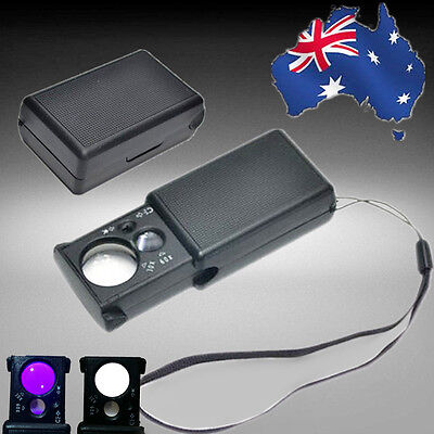 LED 30x 60x Pullout Pull-out Jewelers Pocket Loupe Magnifier EMAGN3601