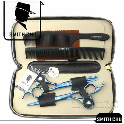 """6"""" Professional Barber Hair Cutting & Thinning Scissors Shears Hairdressing Set"""