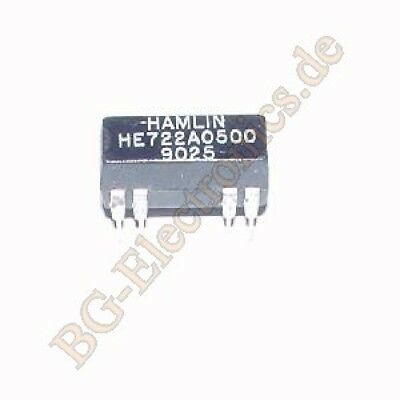 1 x HE722A0500 DUAL-IN-LINE Reed Relay Hamlin DIP-14 1pcs