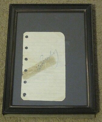 Elvis Presley Rare Original Signed Autograph San Antonio April 1956